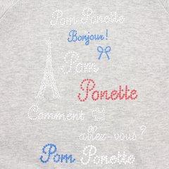 ■【オンライン限定】【送料無料】ポンポネット(pom ponette)<br />  重ね着風ティアードフリル長袖ワンピース